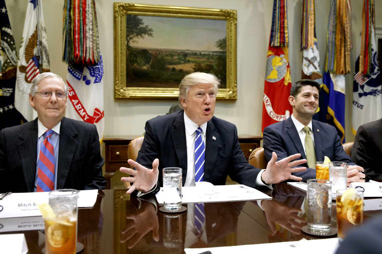Image: Donald Trump, Paul Ryan, Mitch McConnell