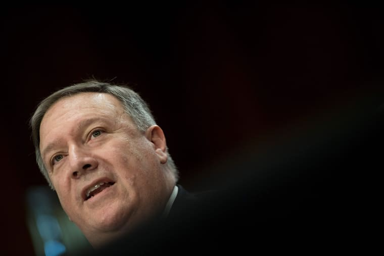 Image: CIA Director Mike Pompeo testifies before a Senate Foreign Relations Committee confirmation hearing on Pompeo's nomination to be secretary of state on Capitol Hill in Washington