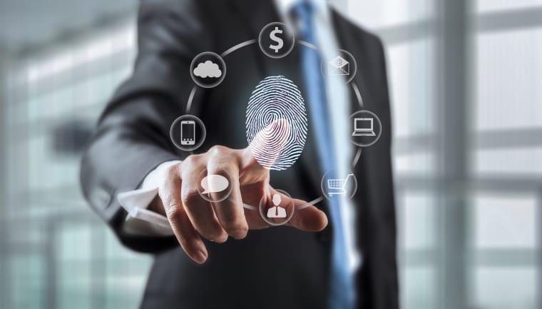 Image: Biometric finger scan