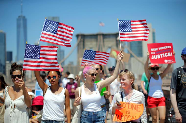 Image: US-POLITICS-IMMIGRATION-PROTEST-MIGRANTS
