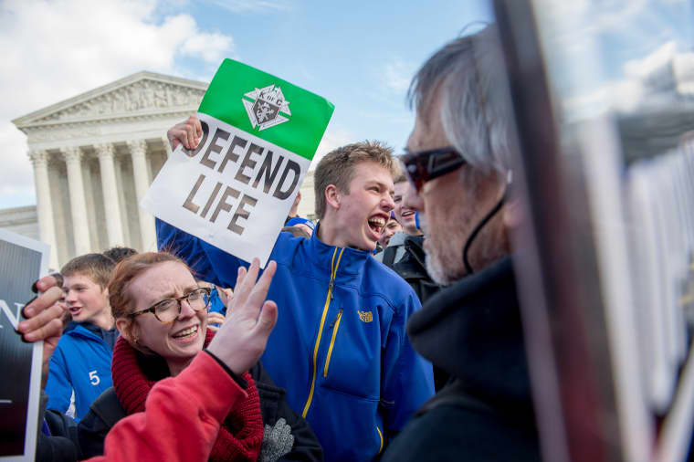 Thousands of pro-life protesters participate in the annual March for Life