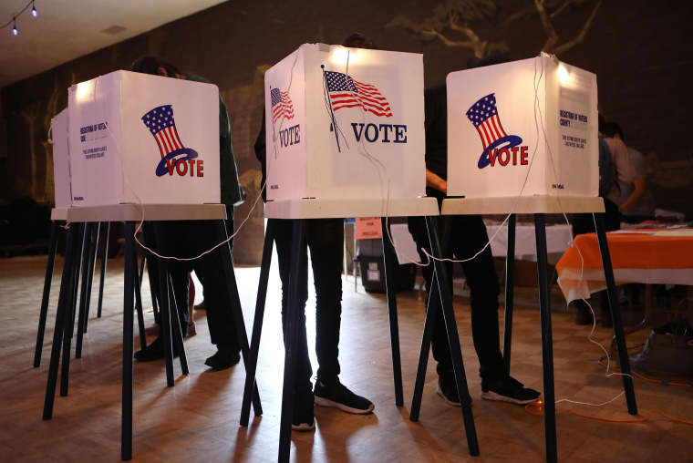 Image: Voters In California Head To Polls To Cast Ballots In State's Primary Election