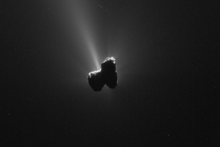 A single frame Rosetta navigation camera image of Comet 67P/Churyumov-Gerasimenko