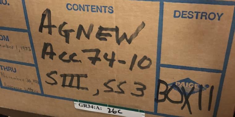 Spiro Agnew Archive File Box 9
