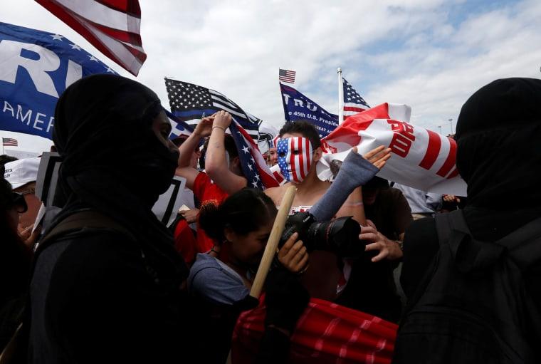 Image: Pro-Trump rally Huntington Beach