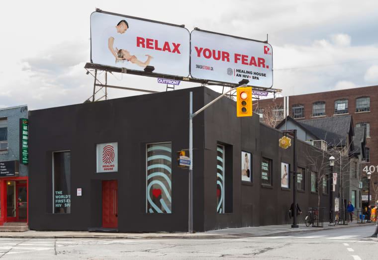 An exterior shot of the Healing House in downtown Toronto.