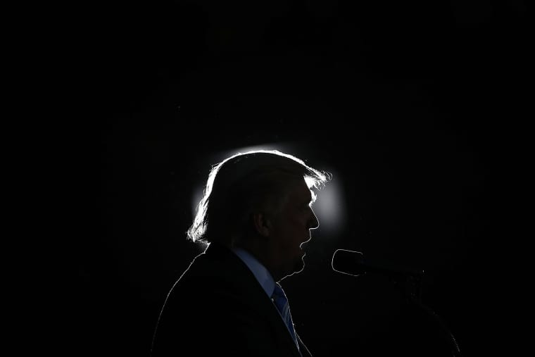 Image: Republican presidential candidate Donald Trump delivers remarks on Oct. 22, 2016 in Virginia Beach, Virginia.