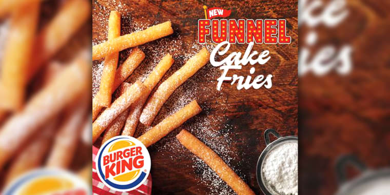 Burger King launched new funnel cake fries