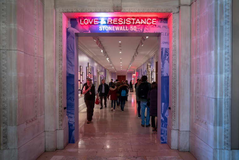 """Image: \""""Love & Resistance: Stonewall 50,\"""" an exhibition at the New York Public Library."""