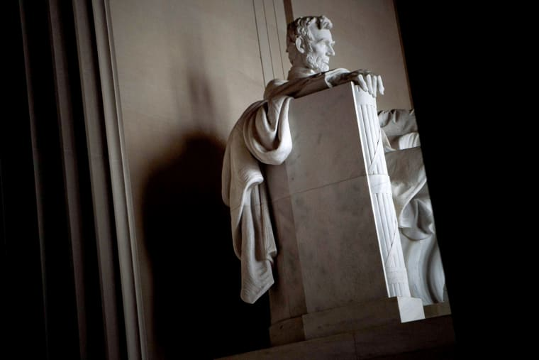 Image: The Lincoln Memorial on the National Mall on Feb. 12, 2019 in Washington, DC.