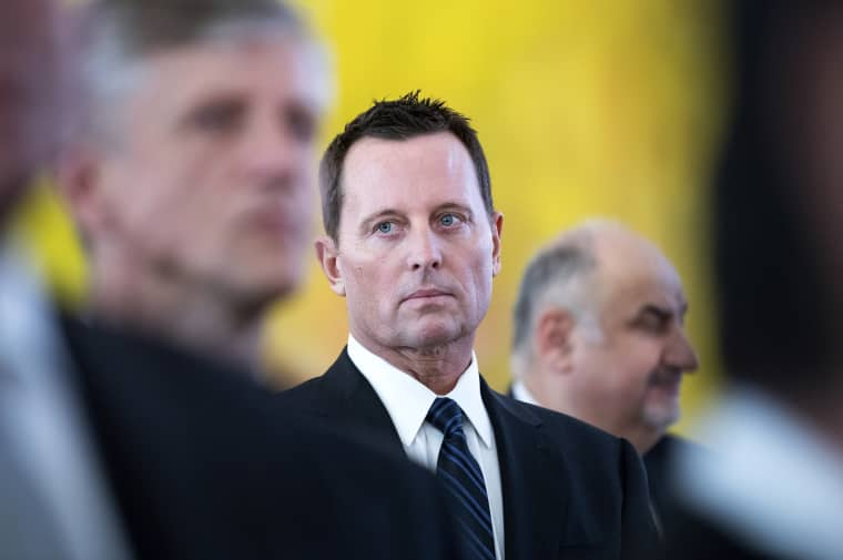 Image: United States Ambassador to Germany Richard Grenell attends a reception in Berlin on Jan. 14, 2019.