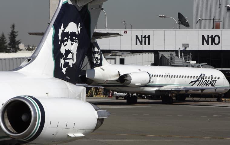 Image: Alaska Airlines planes are seen at Seatt