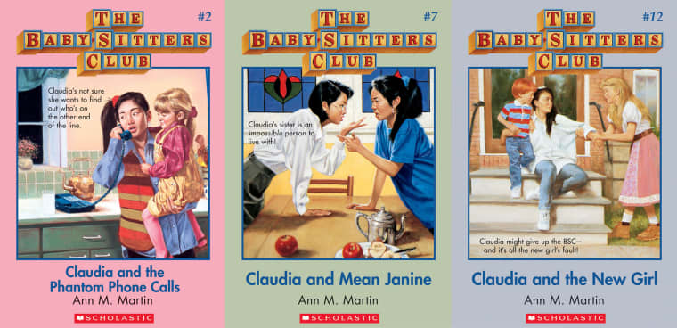 """A few of """"The Baby-Sitters Club"""" titles apart the series."""