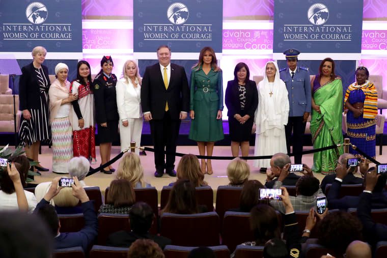Image: BESTPIX - Secretary Of State Pompeo And First Lady Melania Trump Attend International Women Of Courage Awards
