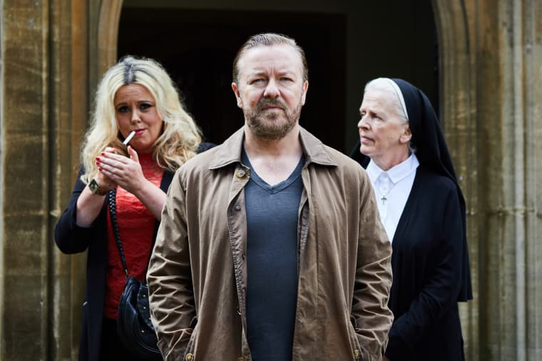 """Ricky Gervais stars in a new Netflix original series called """"After Life."""""""