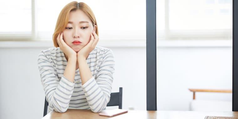 Worried Woman in 20's