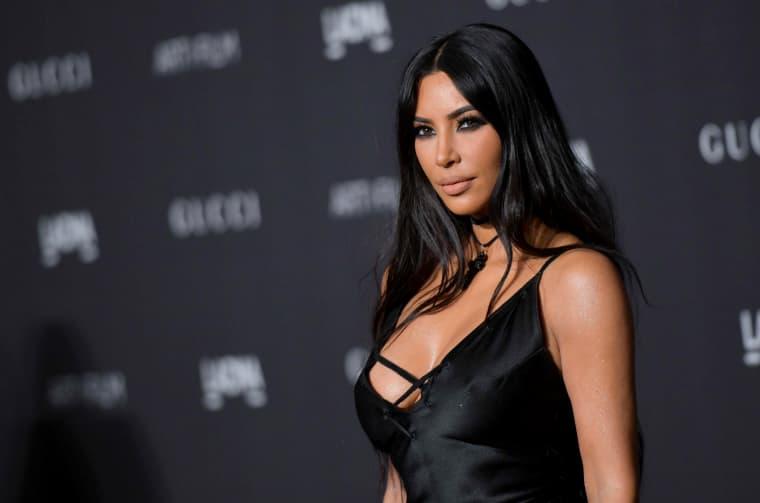 Kim Kardashian arrives for the 2018 LACMA Art+Film Gala in Los Angeles on Nov. 3, 2018.