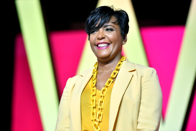 Image: Atlanta Mayor Keisha Lance Bottoms speaks at the ESSENCE Festival in New Orleans on July 6, 2019.
