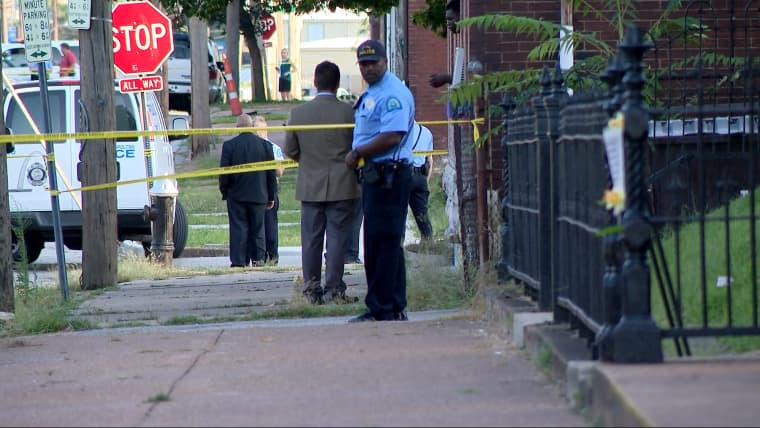 A 7-year-old boy was killed and an 18-year-old man was wounded Monday in the Hyde Park neighborhood in St. Louis.