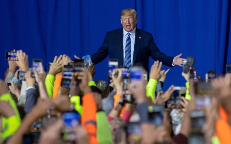 Image: ***BESTPIX*** President Trump Visits Shell Pennsylvania Petrochemicals Complex