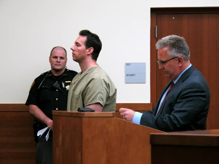 Image: Former doctor William Husel pleads not guilty to murder charges in Franklin County Court in Ohio on June 5, 2019.