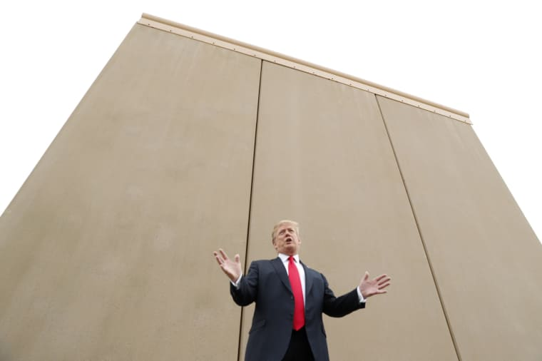 Image: President Trump participates in tour of U.S.-Mexico border wall prototypes near Otay Mesa Port of Entry in San Diego, California