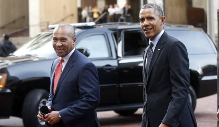 Image: Barack Obama, Deval Patrick