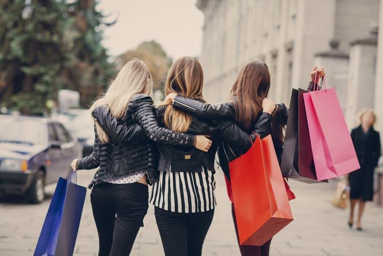 Image: fashion shopping street