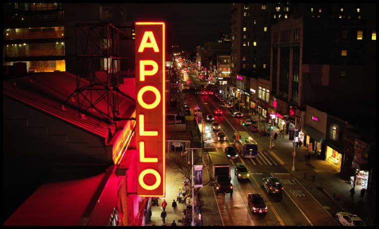 The Apollo marquee.