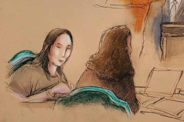 Image: Yujing Zhang appears at her hearing at the U.S. federal court in West Palm Beach