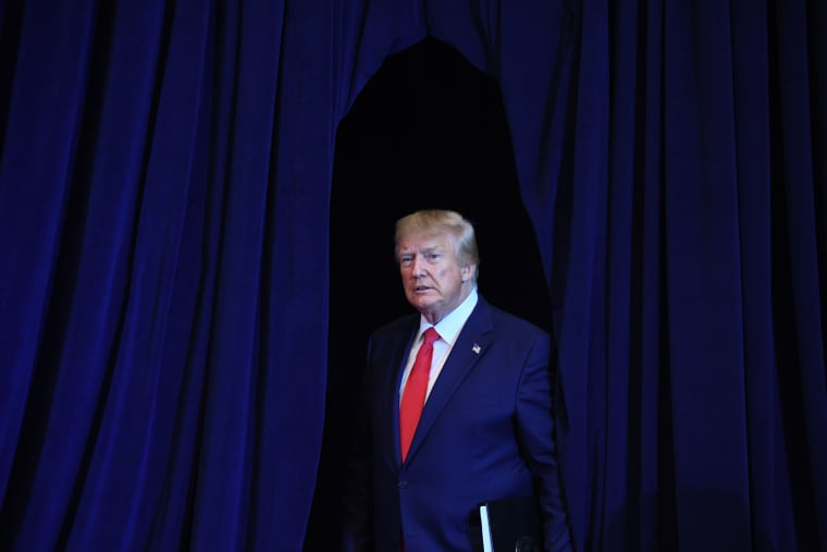 President Donald Trump arrives for a press conference in New York on Sept. 25, 2019.