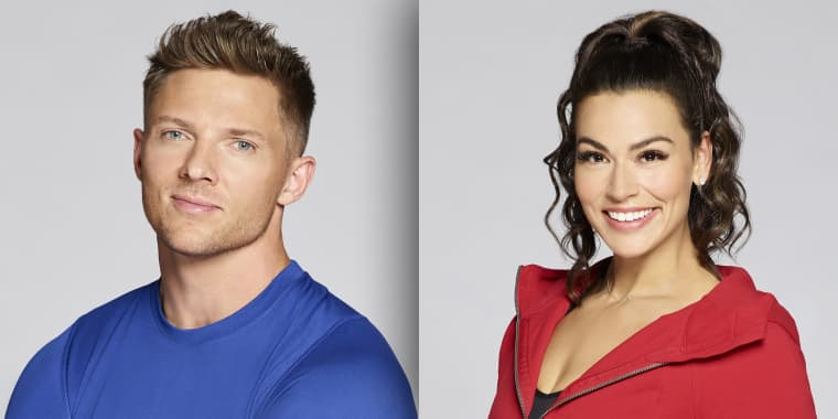 The Biggest Loser trainers Steve Cook and Erica Lugo.