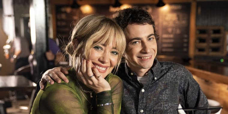 """Hilary Duff and Adam Lamberg in the episode """"Bangs"""" apart of the Lizzie McGuire reboot on Disney."""