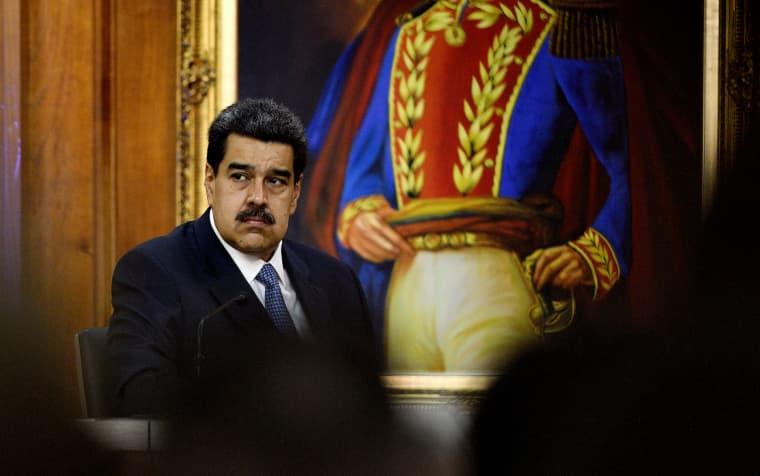 Image: Venezuelan President Nicolas Maduro at the Palacio de Miraflores in Caracas on June 27, 2019.