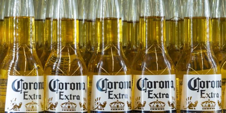 Bottles of Corona beer