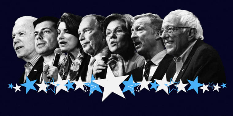 Image: Seven Democratic candidates will take the stage in a primary debate in South Carolina on Feb. 25, 2020.