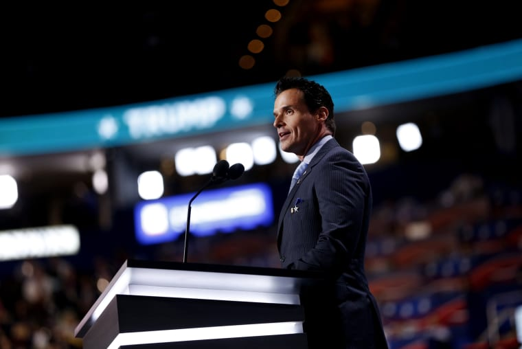 Image: Antonio Sabato Jr. speaks at the Republican National Convention in Cleveland, Ohio, on July 18, 2016.