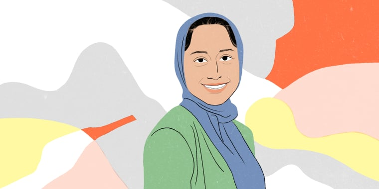 Image: Nidha Azam, a physician assistant who left family medicine to help victims.