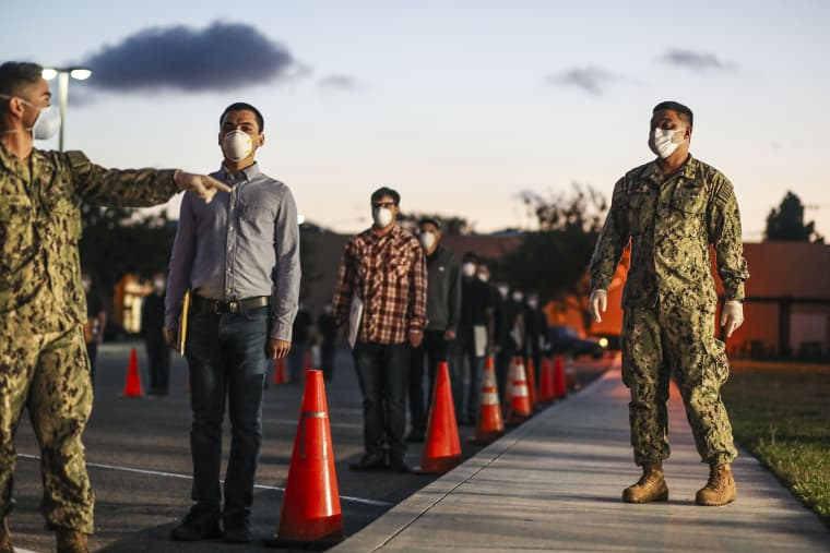 U.S. Marine Recruits Practice New COVID-19 Measures As They Enter Training