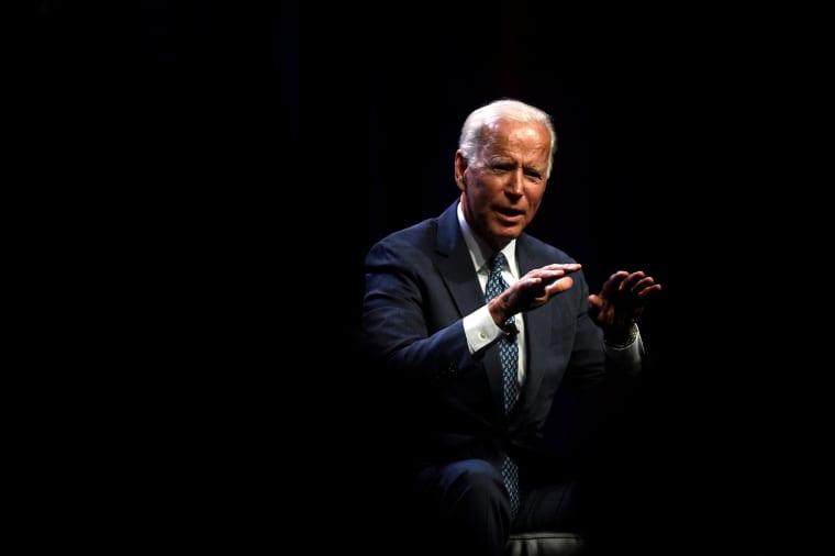 Image: Former Vice President Joe Biden addresses attendees during the AFL-CIO Workers Presidential Summit in Philadelphia