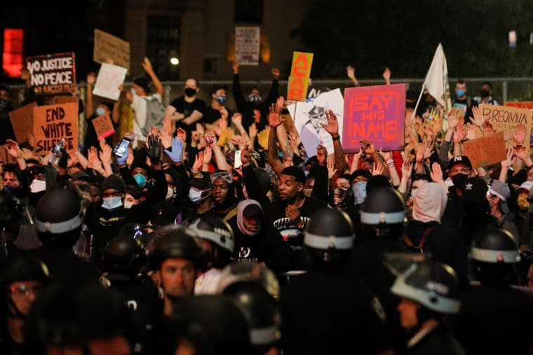 Image: Protest against the death in Minneapolis police custody of George Floyd, in New York
