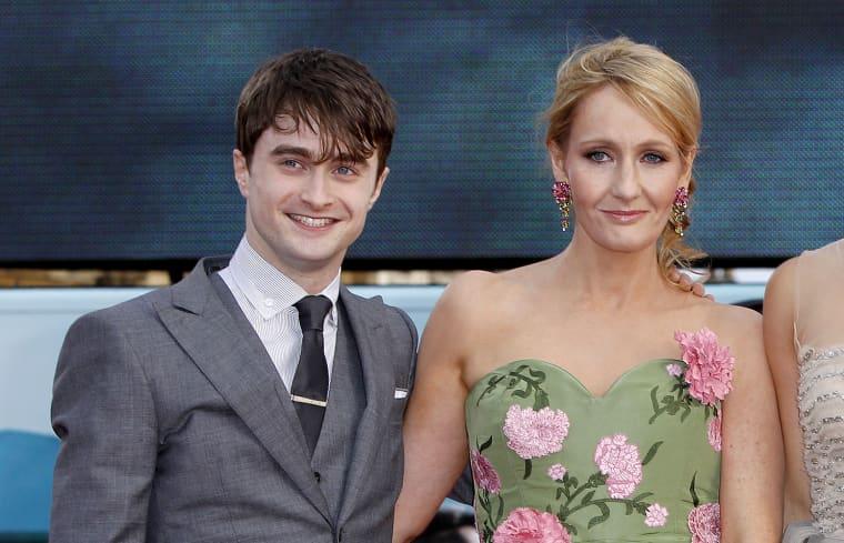 JK Rowling, Daniel Radcliffe, Emma Watson, Rupert Grint,