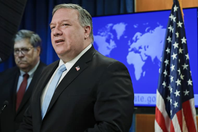 Secretary of State Mike Pompeo speaks on June 11, 2020 at the State Department.