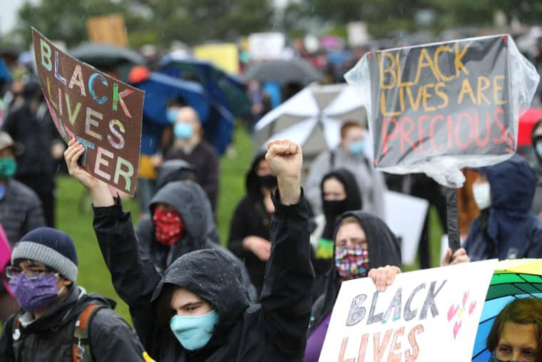Image: Statewide Silent Black Lives Matters Marches Held Across Washington State