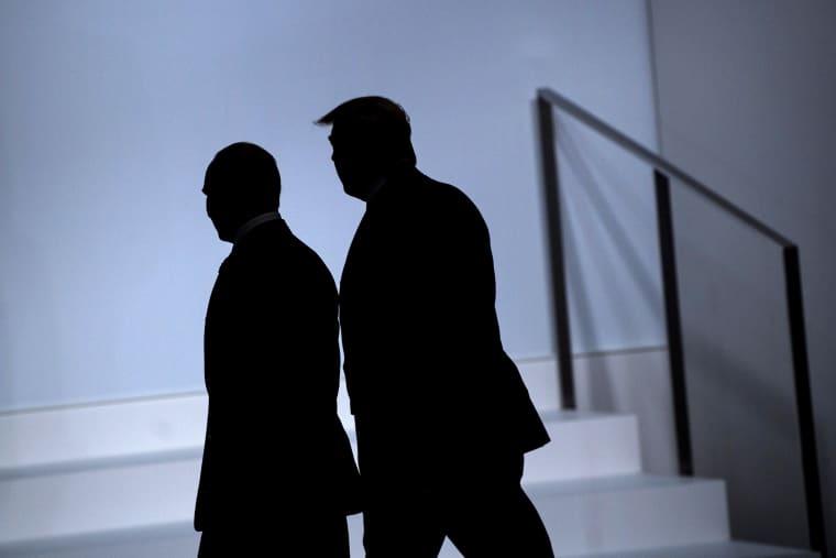 Image: Vladimir Putin, DOnald Trump, silhouette, JAPAN-G20-SUMMIT