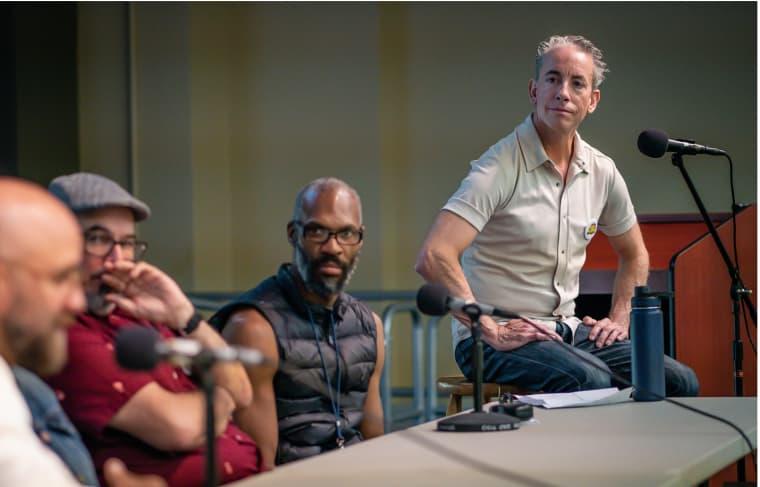 Ho Che Anderson, Jaime Crespo, Ezra Clayton Daniels and Frederick Luis Aldama at SOL-CON in 2019.
