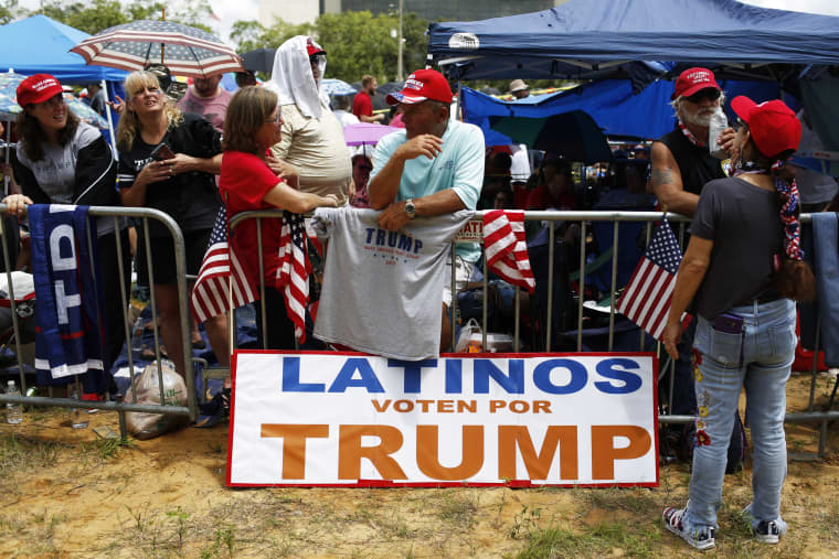 People attend a rally for President Donald Trump in Orlando, Fla., on  June 18, 2019.