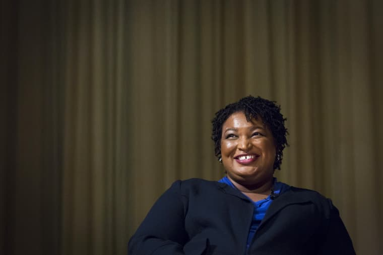 Stacey Abrams at The Carter Center on April 23, 2019, in Atlanta.