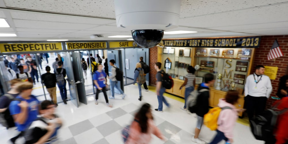 Image: Security cameras keeps watch at Shawnee Mission West High School