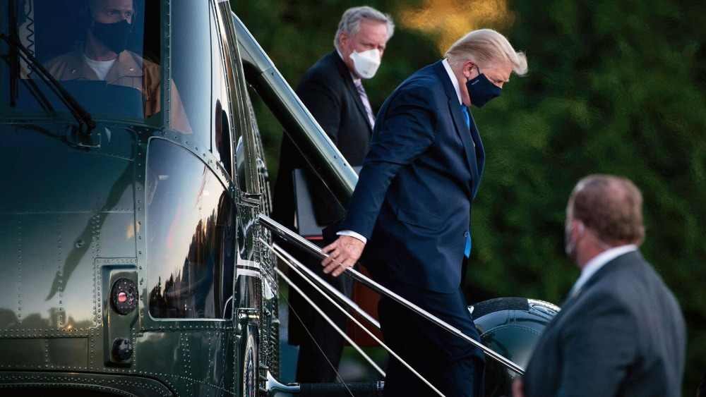 Watch: Trump Arrives At Walter Reed To Undergo Coronavirus Observation